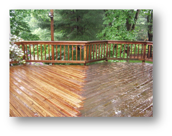 Seal wooden decks and fences