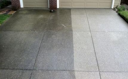 Concrete Driveway Wash Clean N Seal