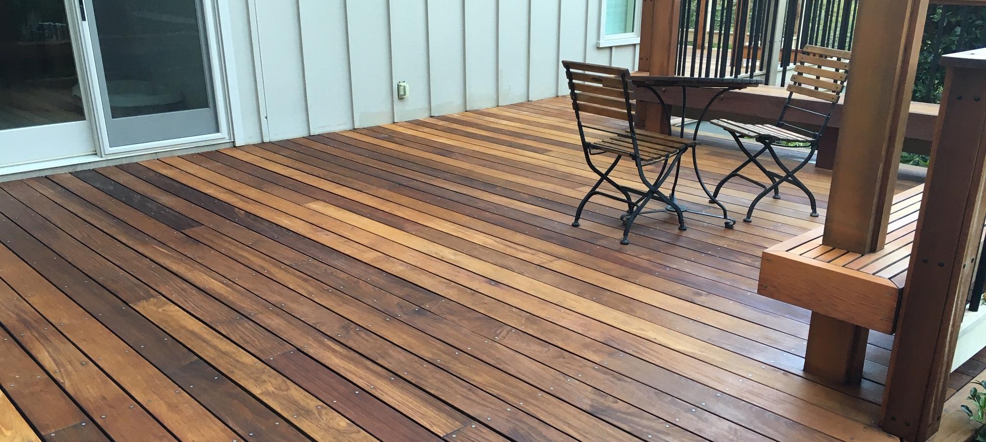 Wood Deck Pressure Wash Clean And Seal N