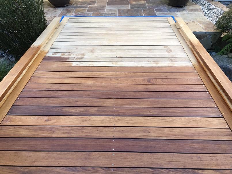 Wood Deck Wash Clean And Seal N